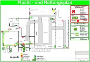 Flucht- und Rettungsplan nach DIN ISO 23601